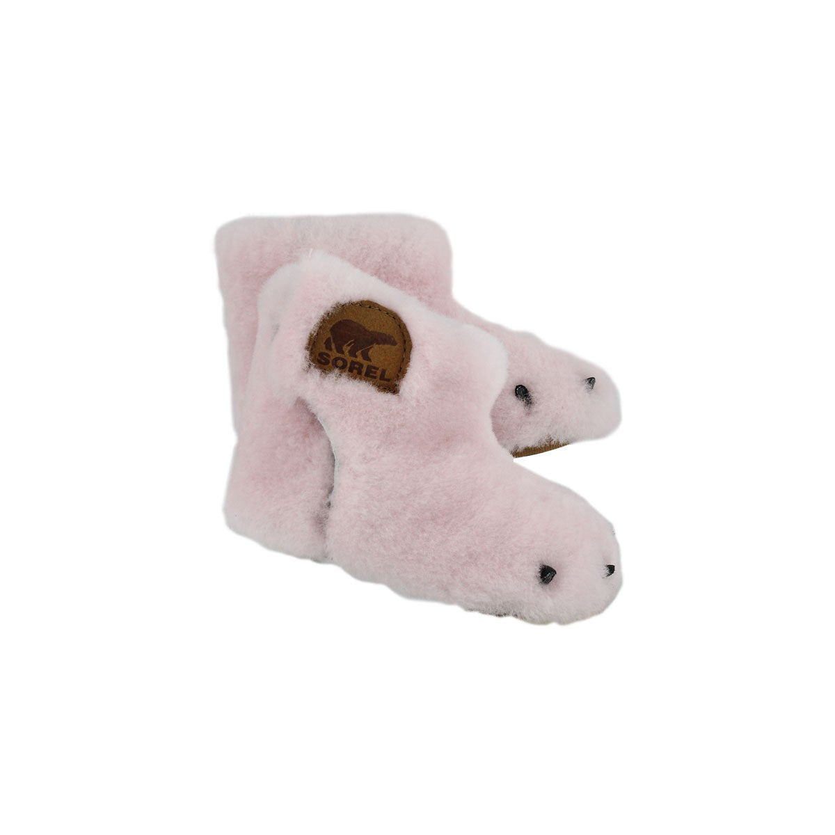 Inf Bear Paw dsty pnk boot slipper