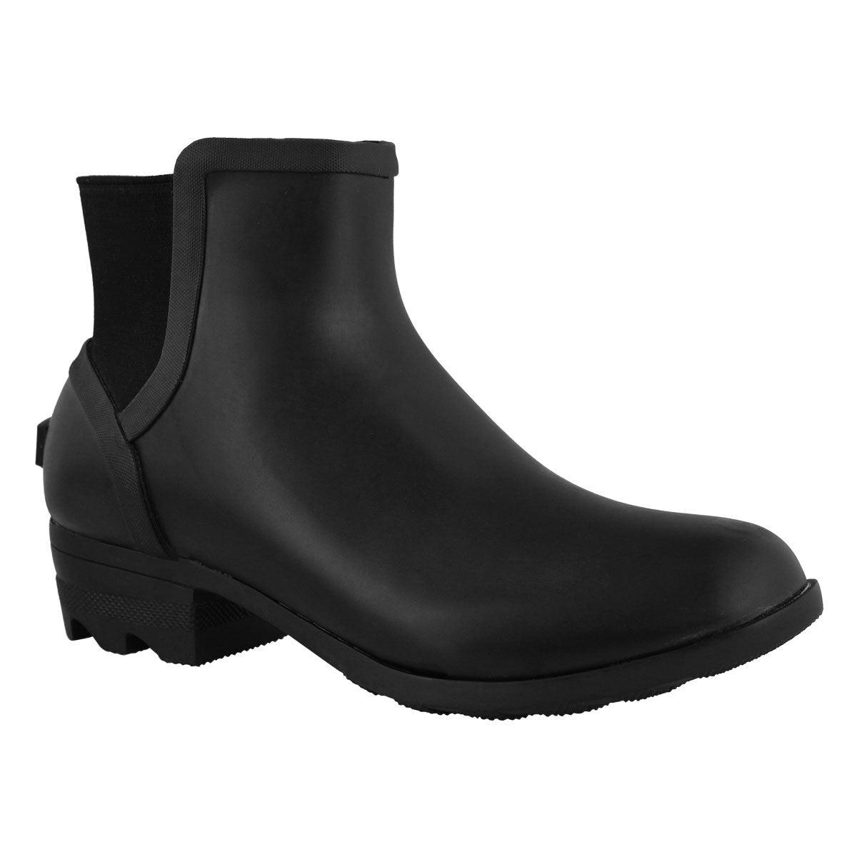 Lds Janey Chelsea black wtrpf rain boot