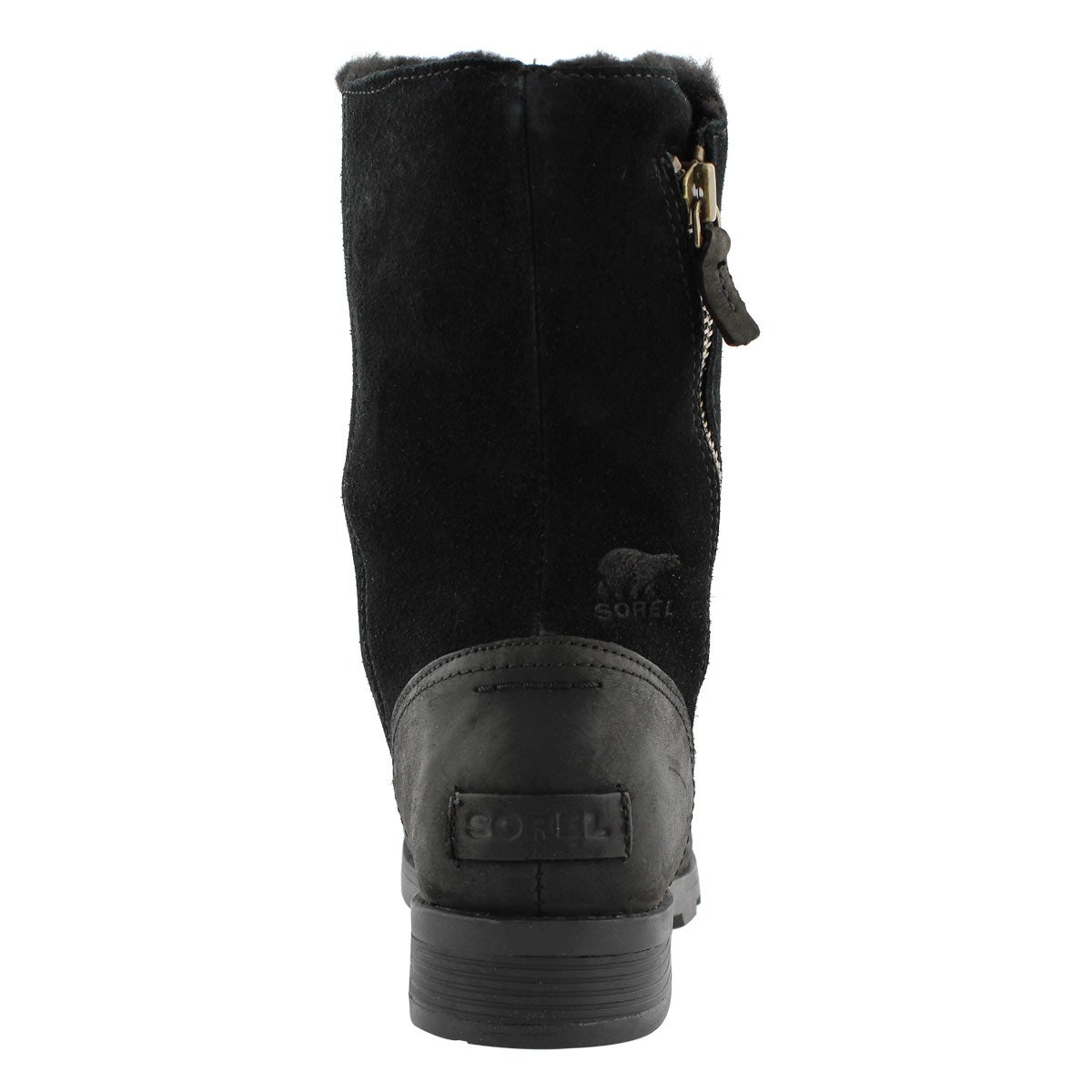 Lds Emelie Foldover blk casual boot