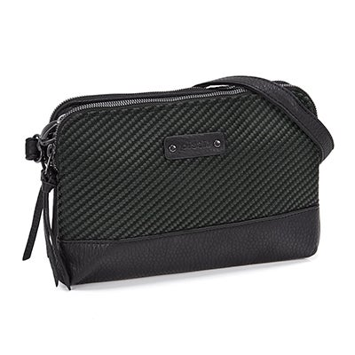 Lds Hands Off obsidian cross body bag