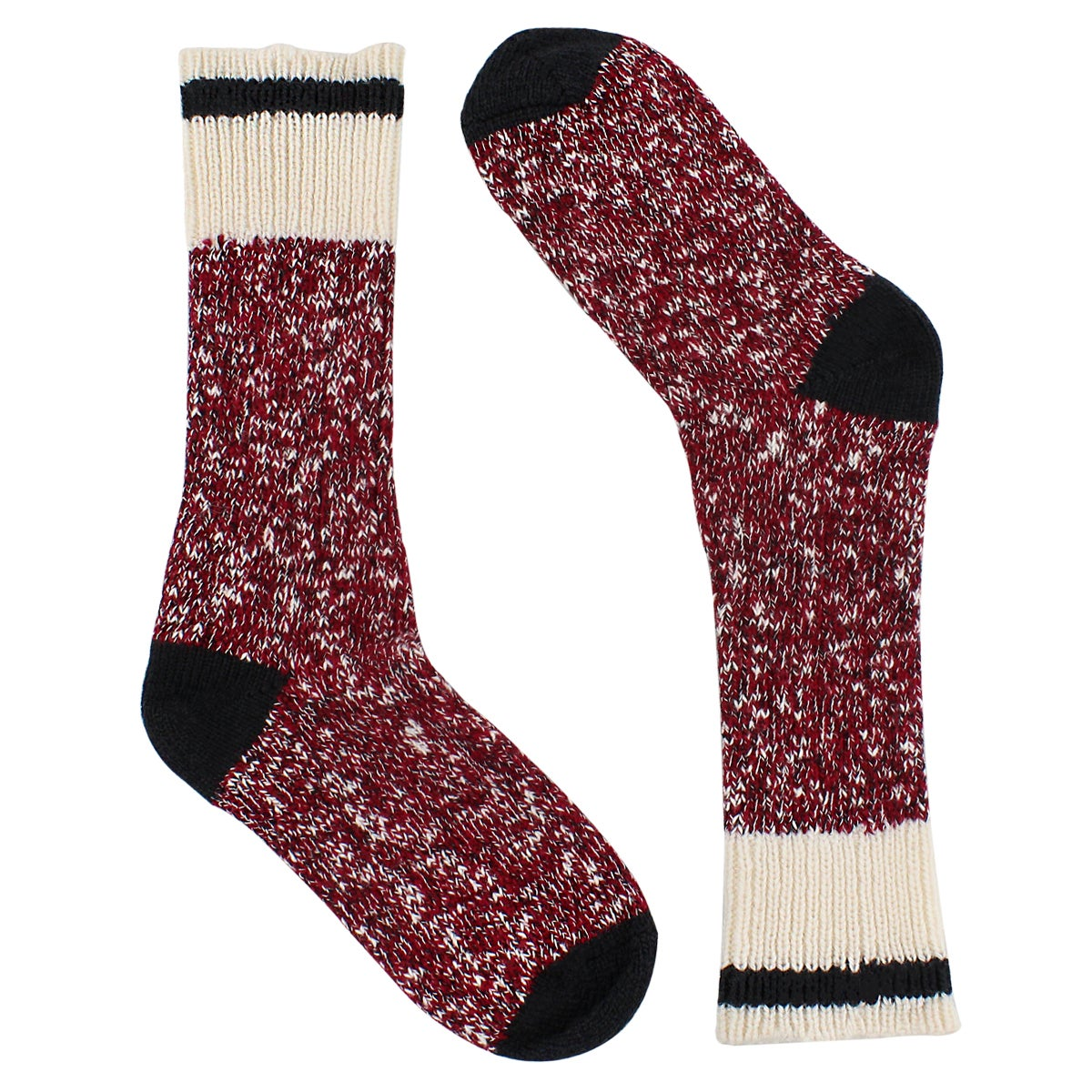 Lds Duray red marled work sock