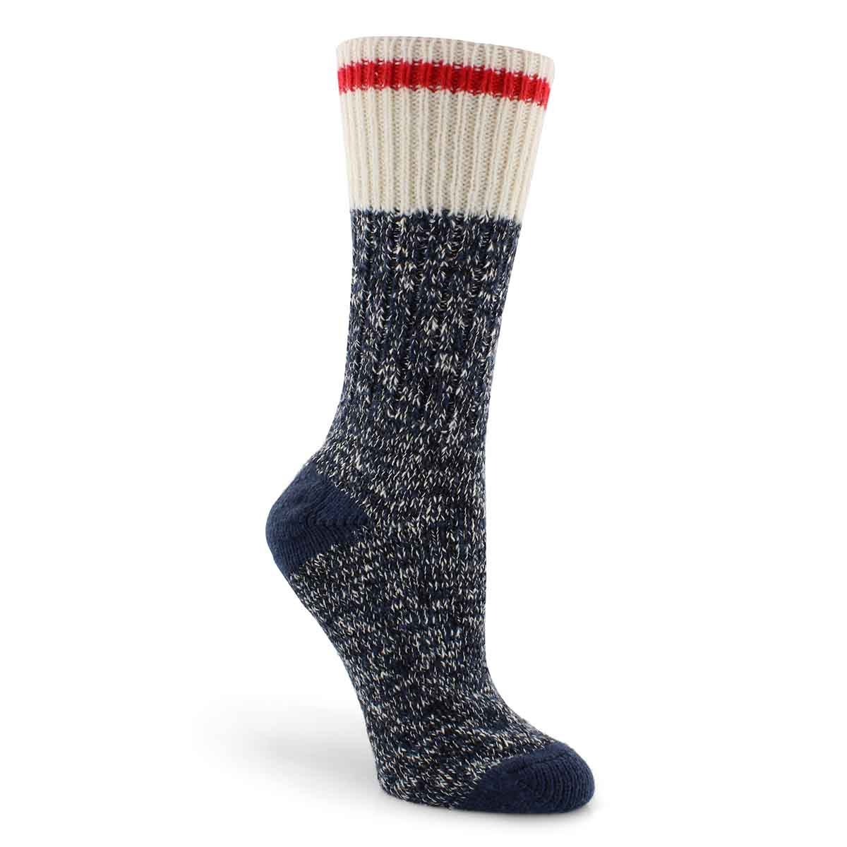 Lds Duray blue marled work sock