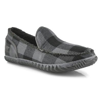 Mns Dude Moc grey slipper