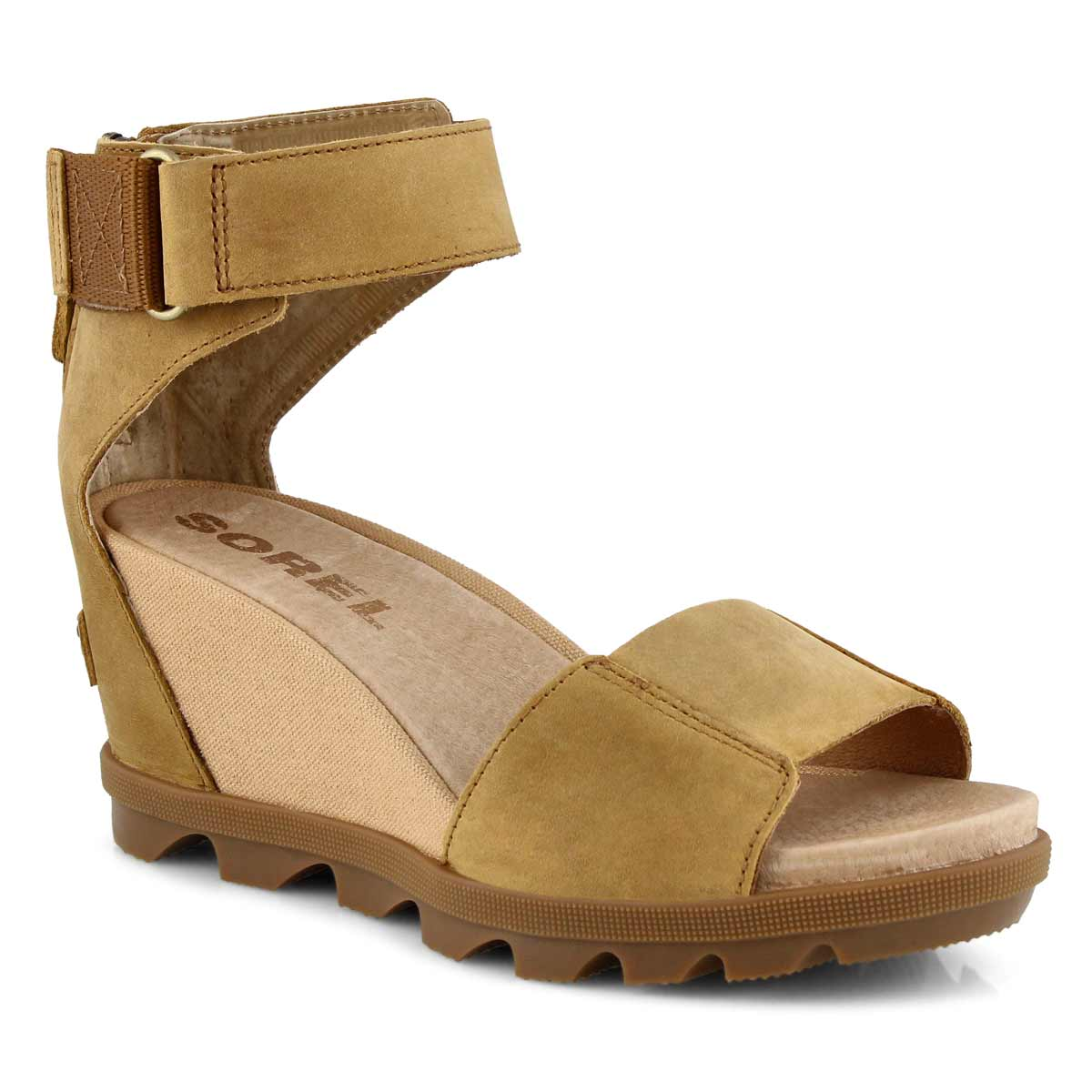 Lds Joanie II Ankle Strap cml wedge sndl
