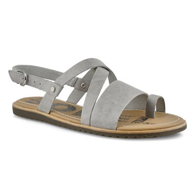 Lds Ella Criss Cross dove casual sandal
