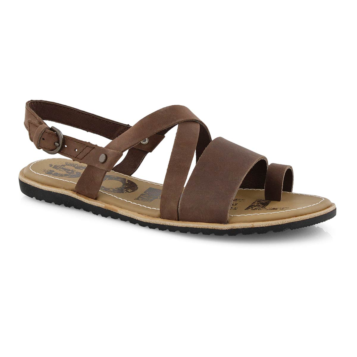 Lds Ella Criss Cross tobac casual sandal