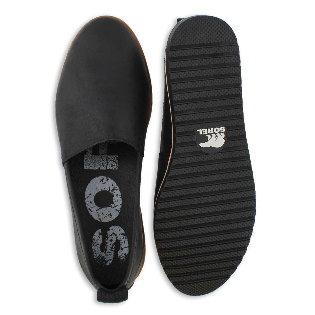 Lds Ella black casual slip on shoe