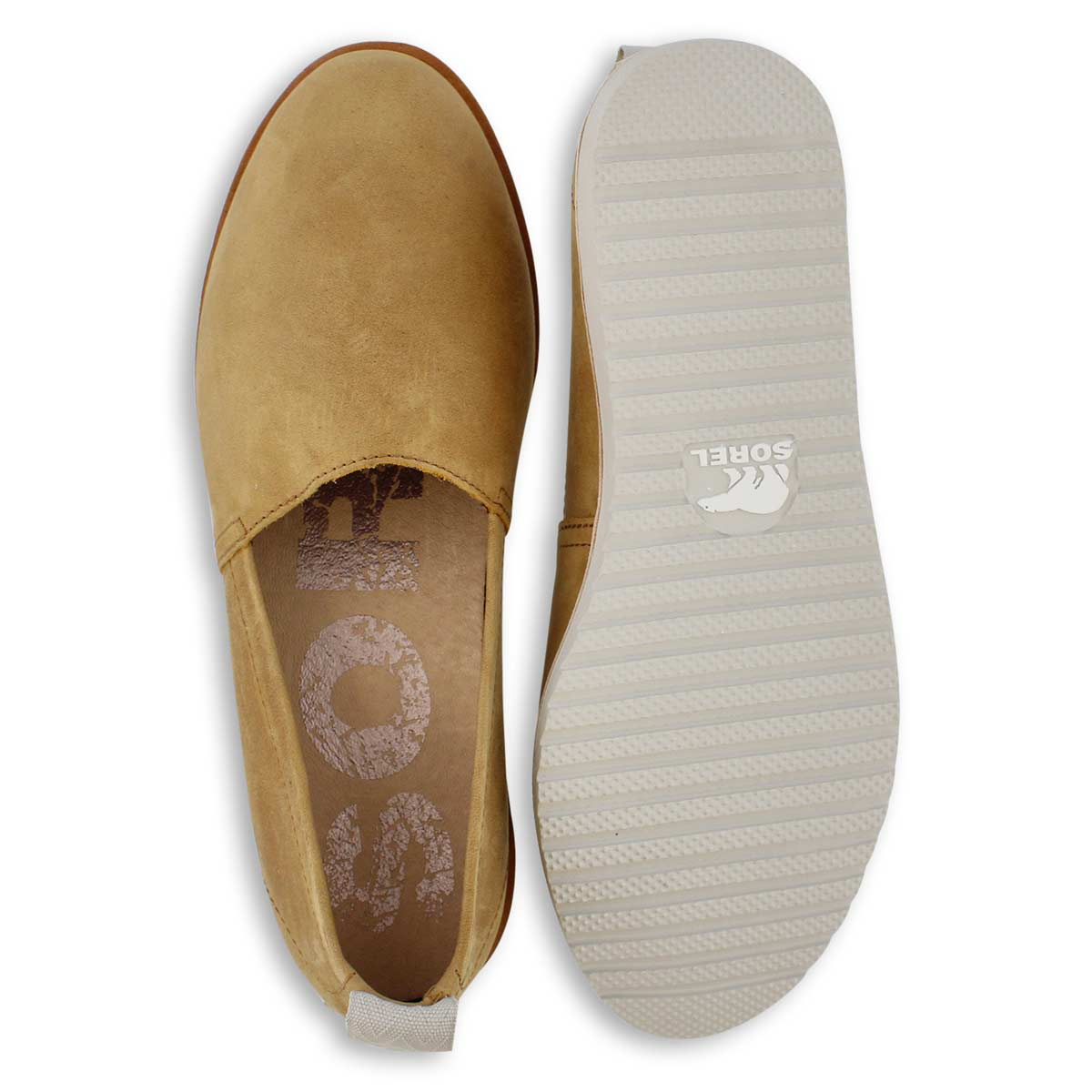 Lds Ella camel brown casual slip on shoe