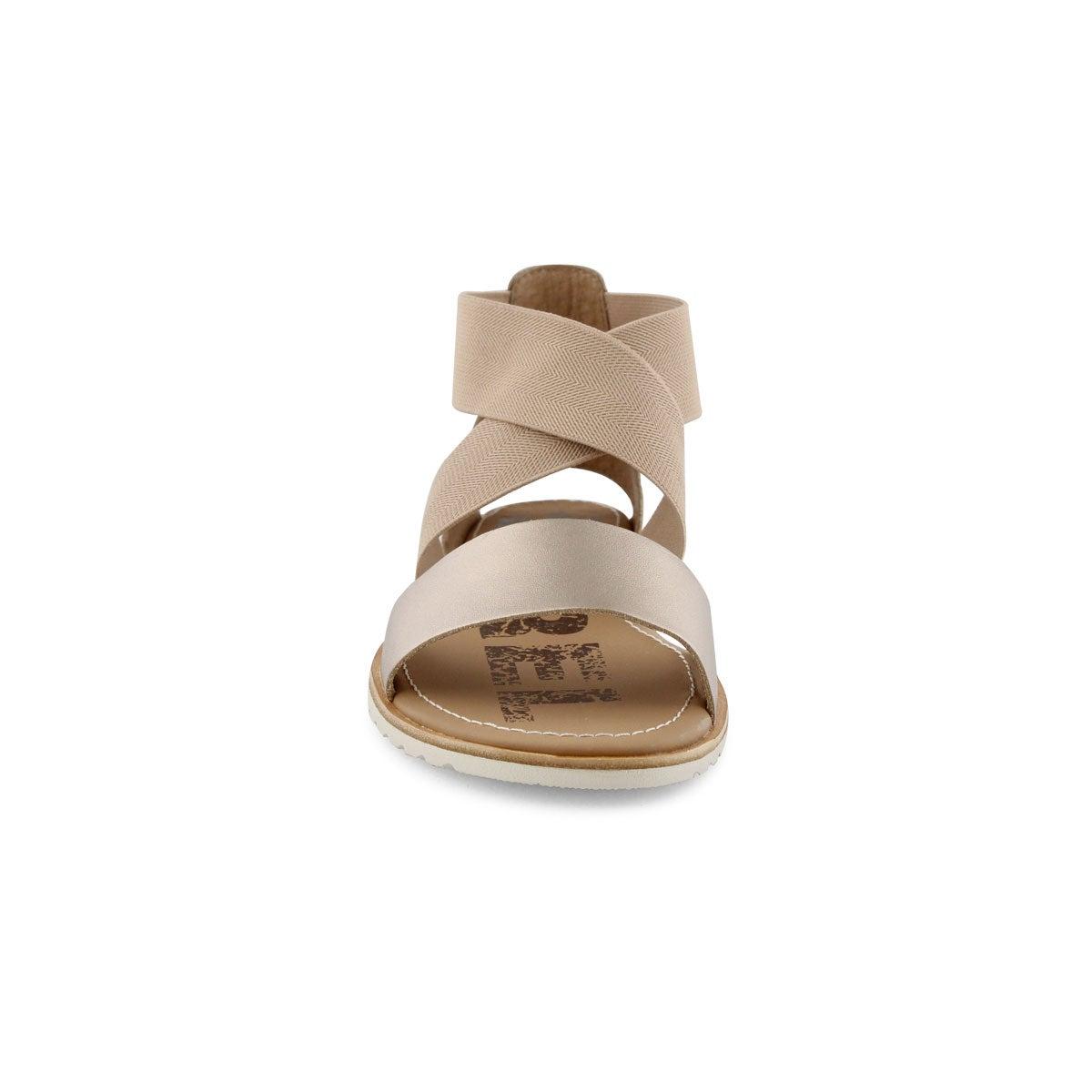 Lds Ella warm gold casual sandal