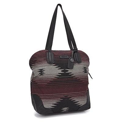 Lds Sure Thing poncho prnt shoulder bag