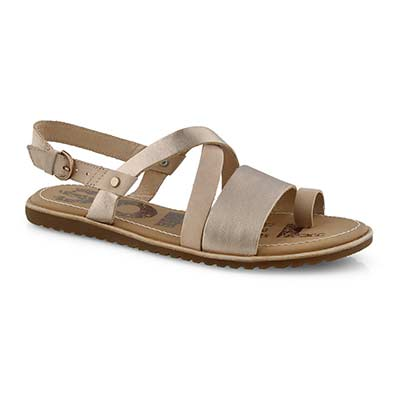 Lds Ella Criss Cross tan casual sandal