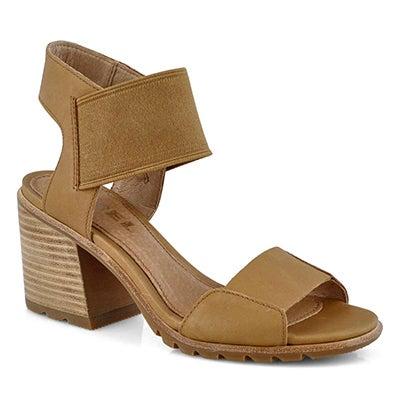 Lds Nadia camel brn dress sandal
