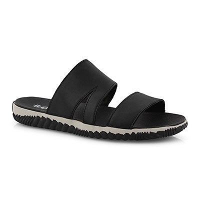 Lds Out N About Plus black slide sndl