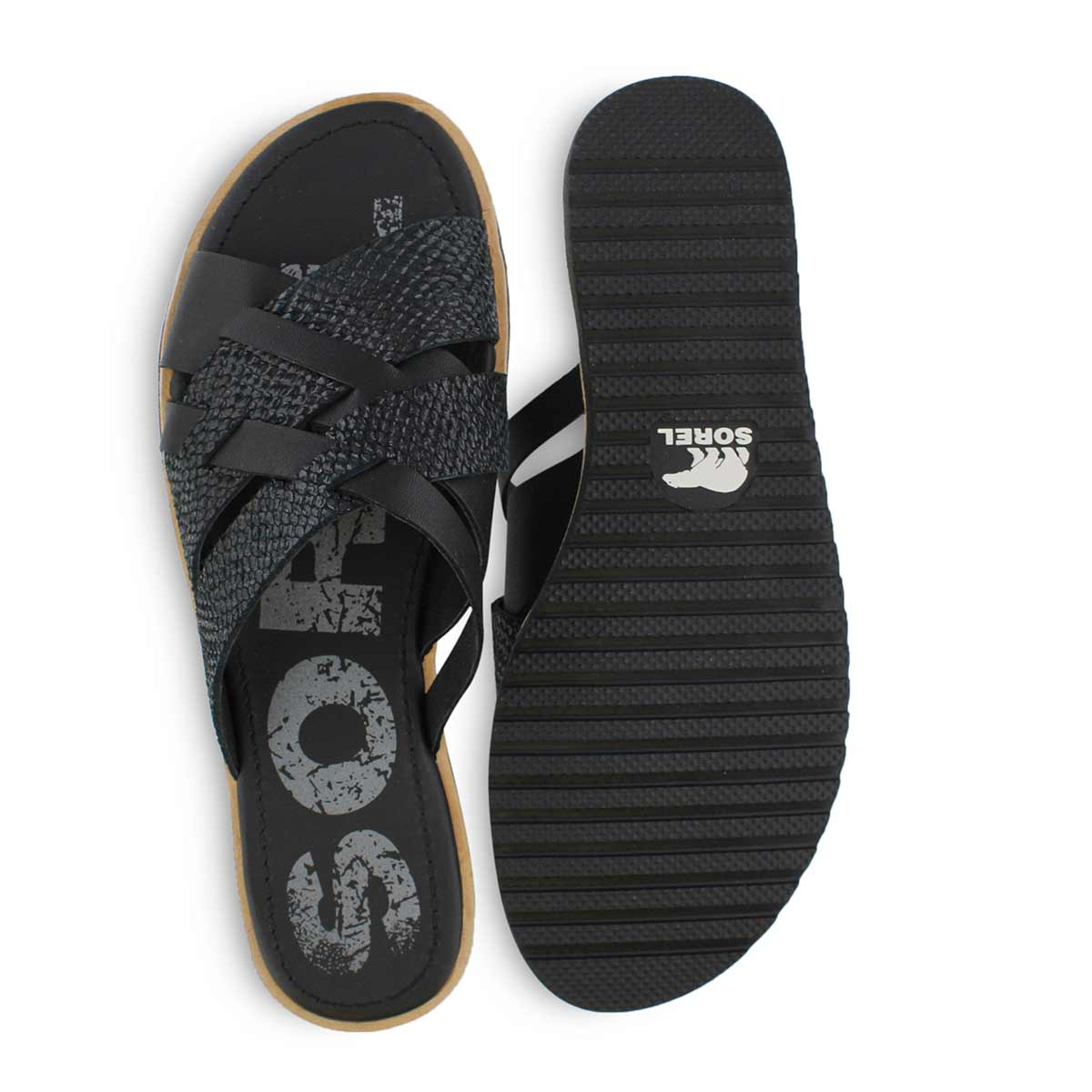Lds Ella black casual slide sandal
