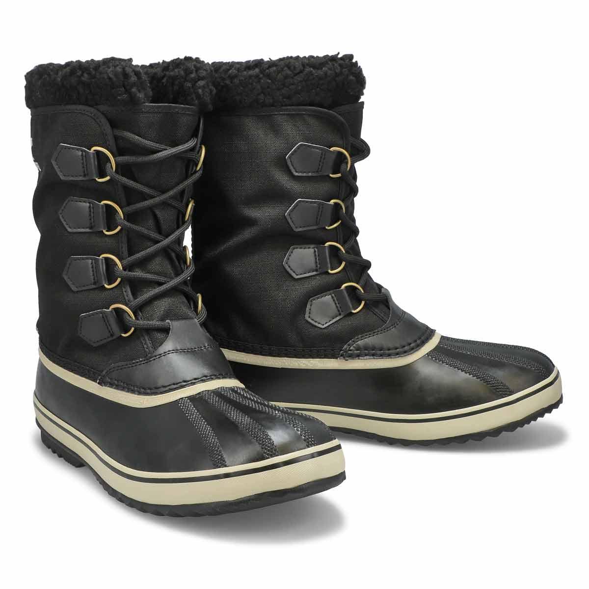 Mns 1964PacNylon blk/fossl wtp wntr boot