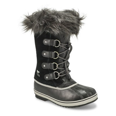 Grls Joan Of Arctic blk wp snow boot