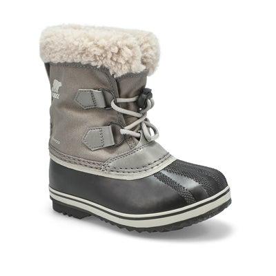 Kids' YOOT PAC nylon grey waterproof snow boot