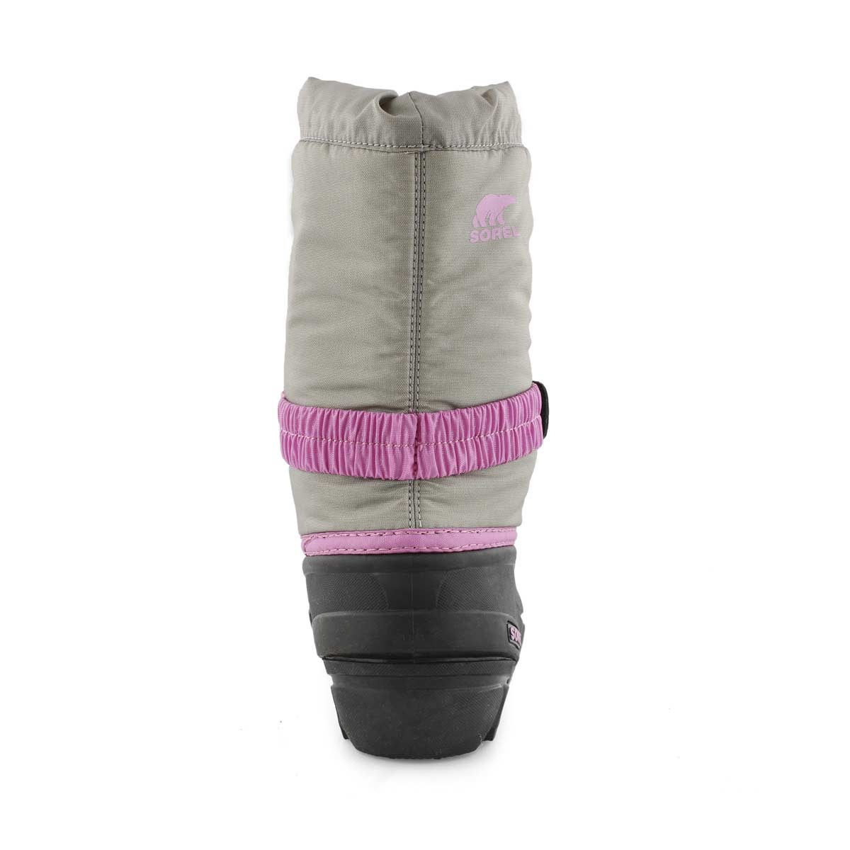 Grls Flurry chrm gry pull on winter boot