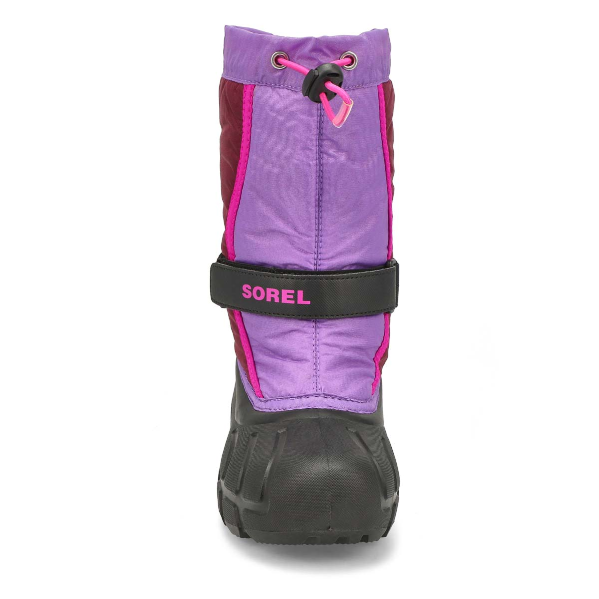 Grls Flurry purple pull on winter boot