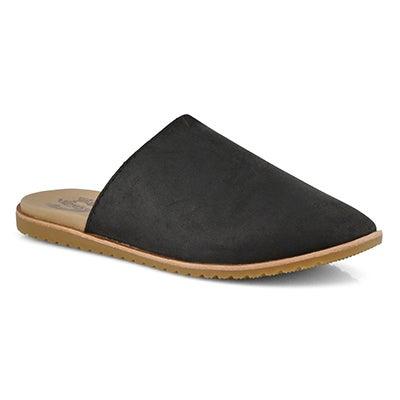 Lds Ella Mule black casual slide sandal