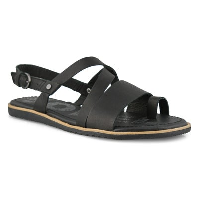 Lds Ella Criss Cross black casual sandal