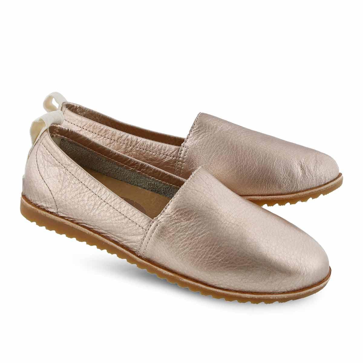 Lds Ella warm gold casual slip on shoe