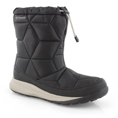 Lds Power Keg Mid blk slipon wtpf boot