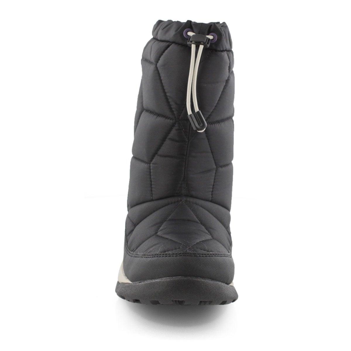 Women's POWER KEG MID black slip on boot