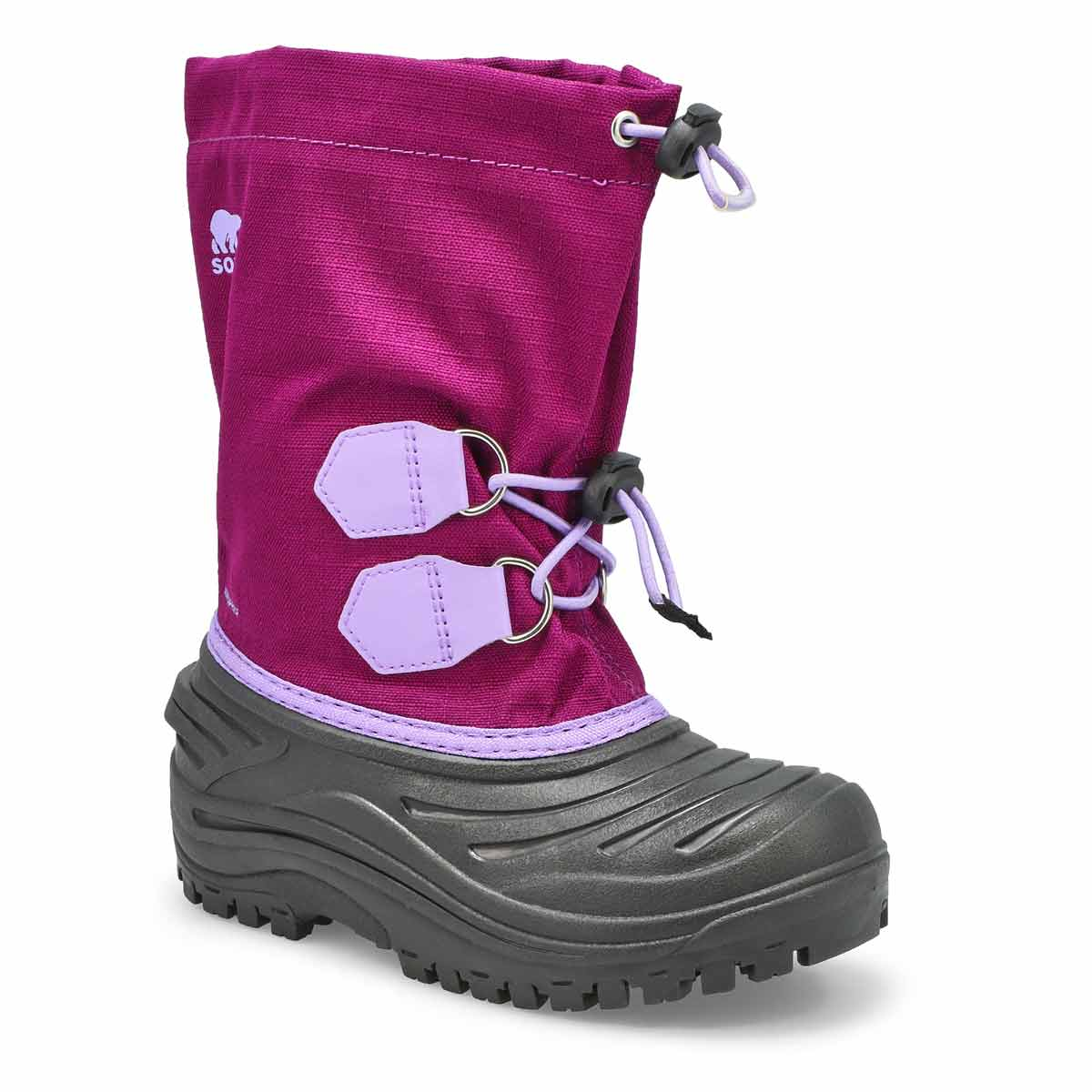 Girls' SUPER TROOPER  purple snow boots