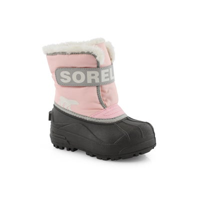 Botte Snow Commander,rose/gris perlé,BBf