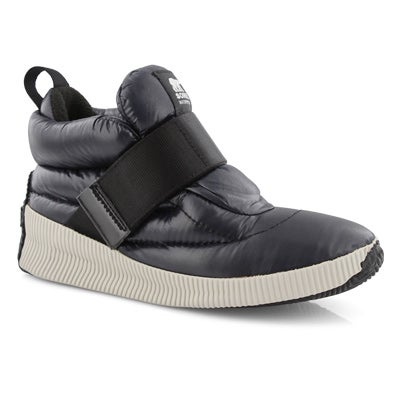 Lds Out'NAboutPuffy blk wtpf ankle boot