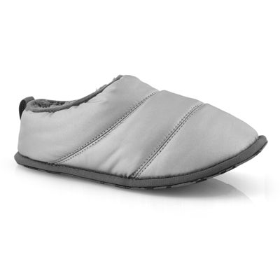 Lds Hadley pure silver open back slipper