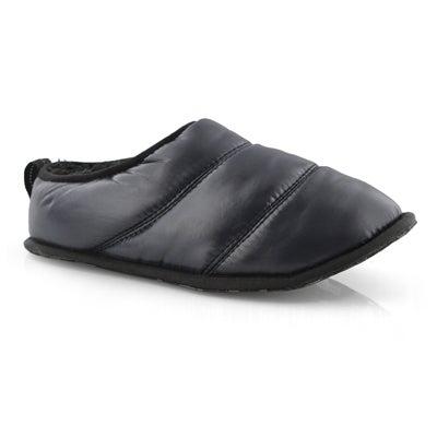 Lds Hadley black open back slipper