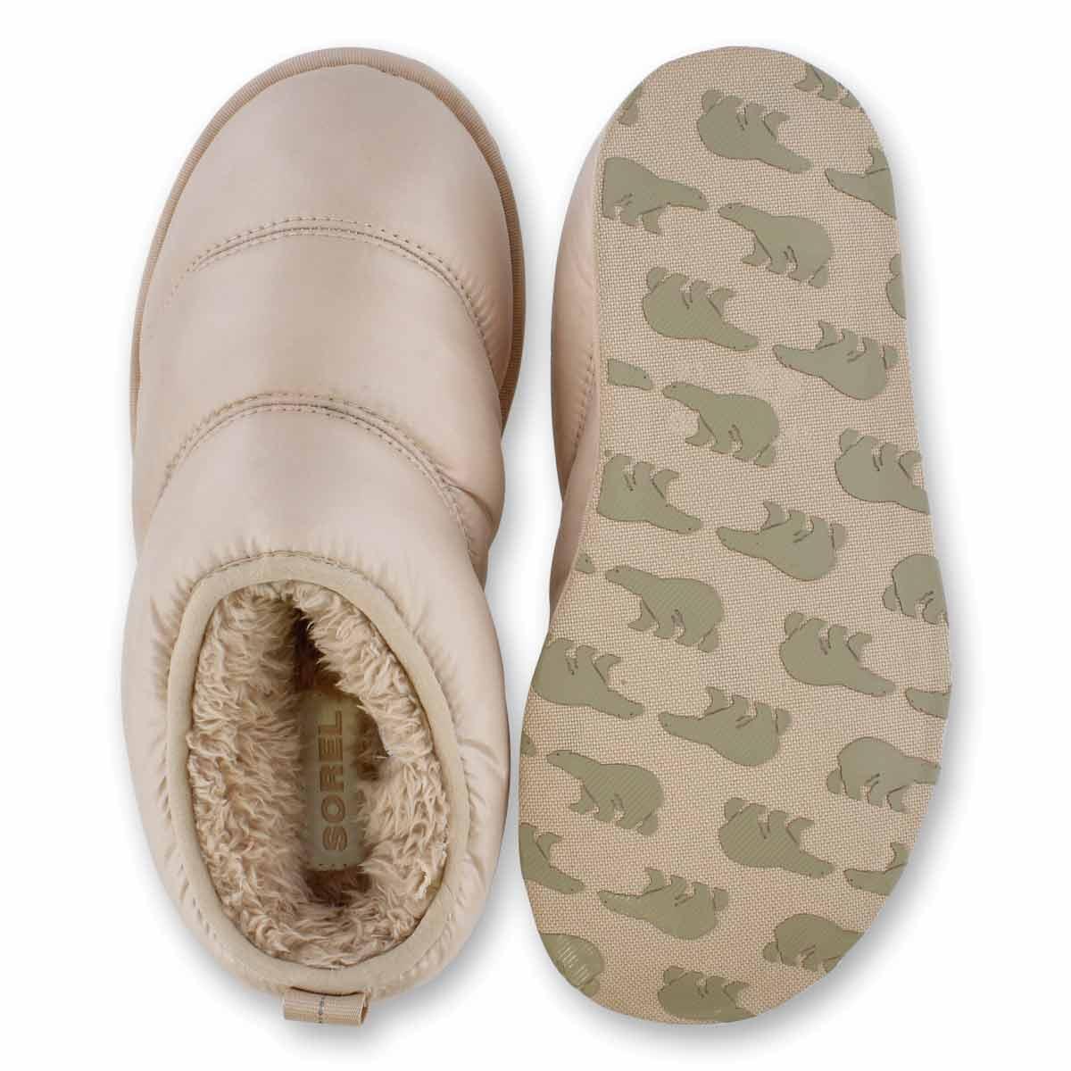 Lds Hadley natural tan open back slipper