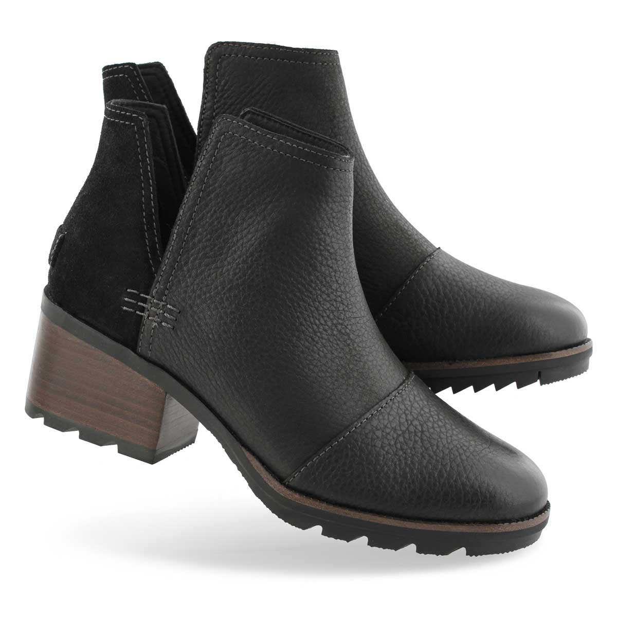 Lds Cate Cut Out black wtpf ankle boot