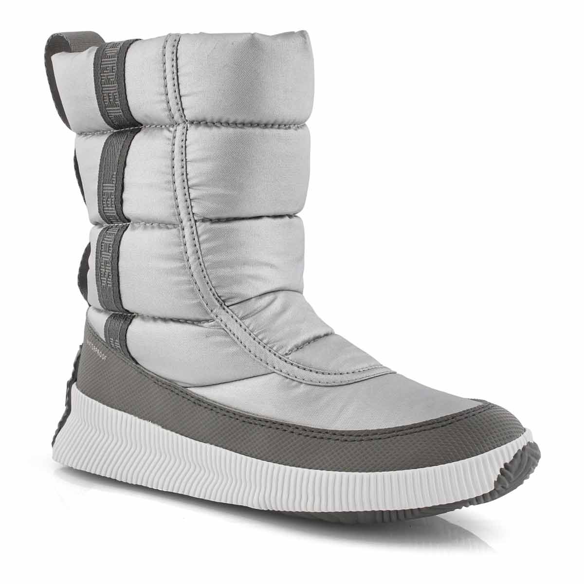 Lds Out'NAboutPuffyMid silver wtpf boot