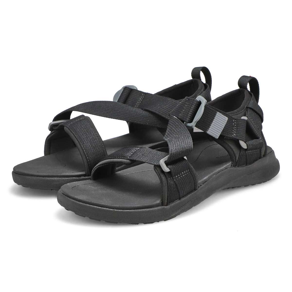 Mns Columbia Sandal blk/rd sport sandal