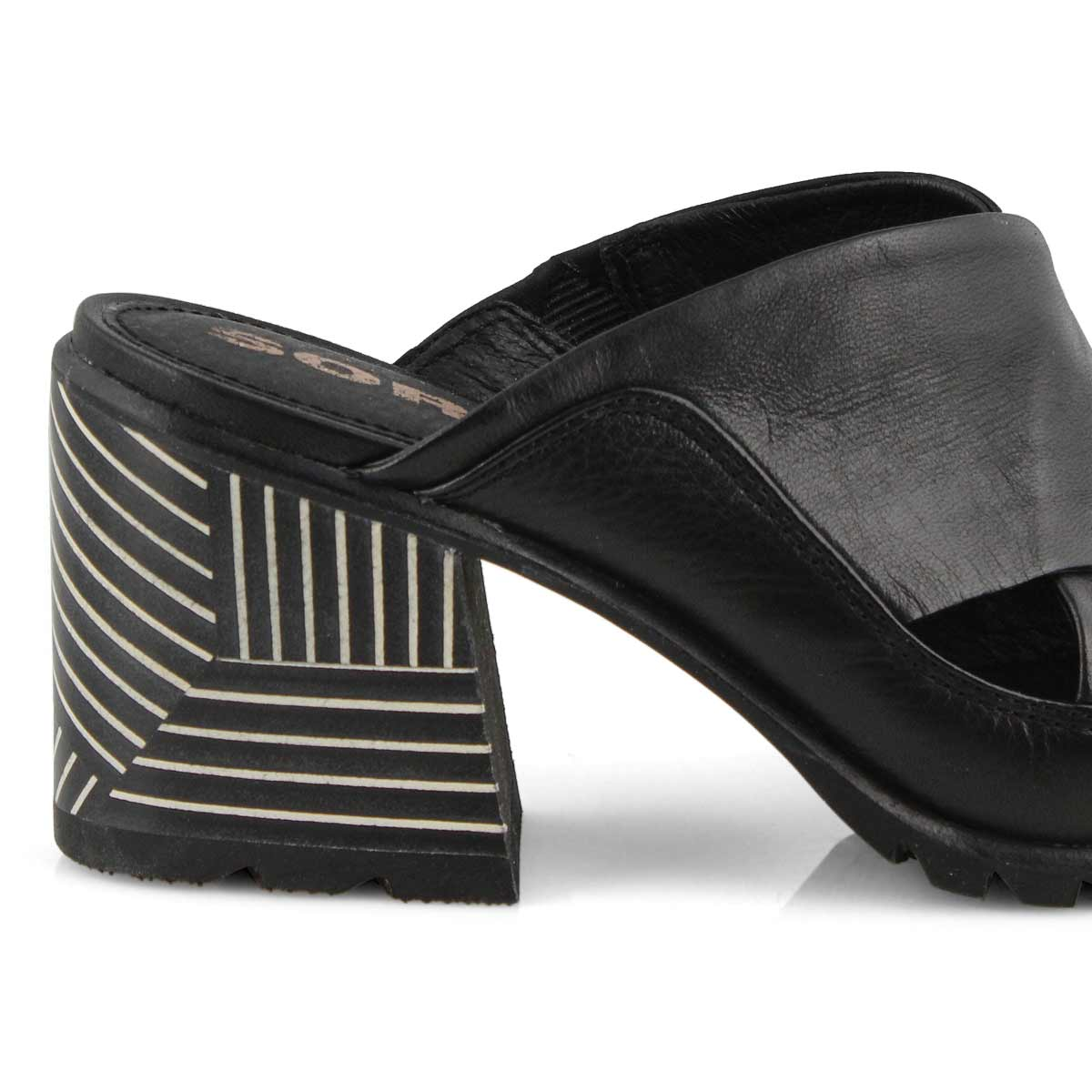 Lds Nadia Mule black dress sandal