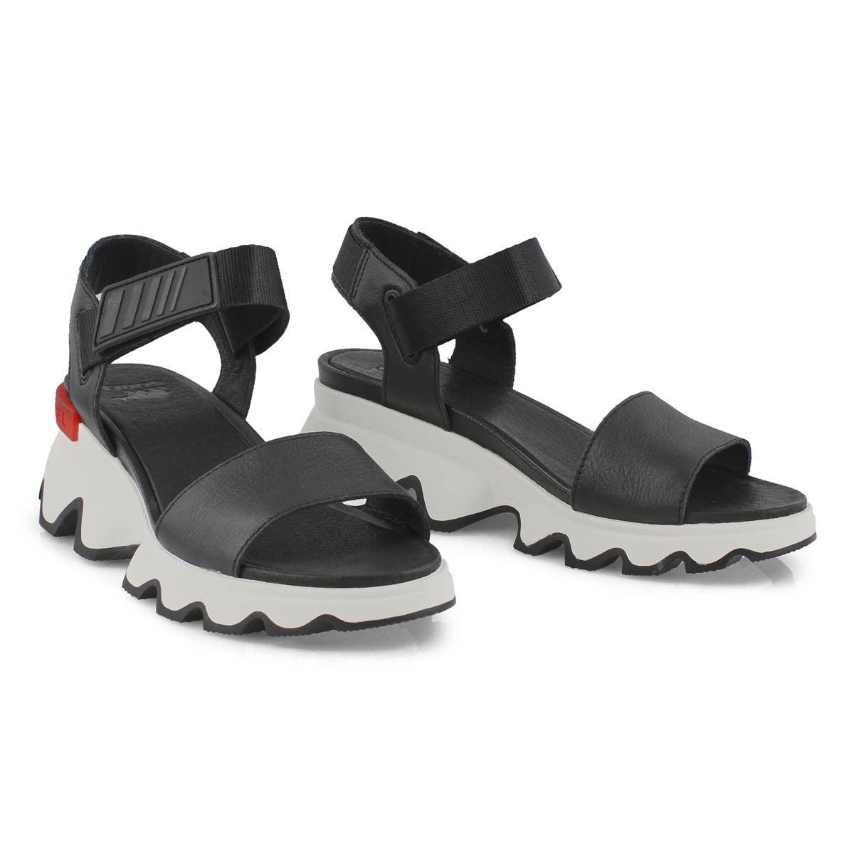 Lds Kinetic black casual sandal