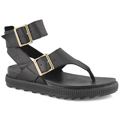 Lds Roaming T-Strap black casual sandal
