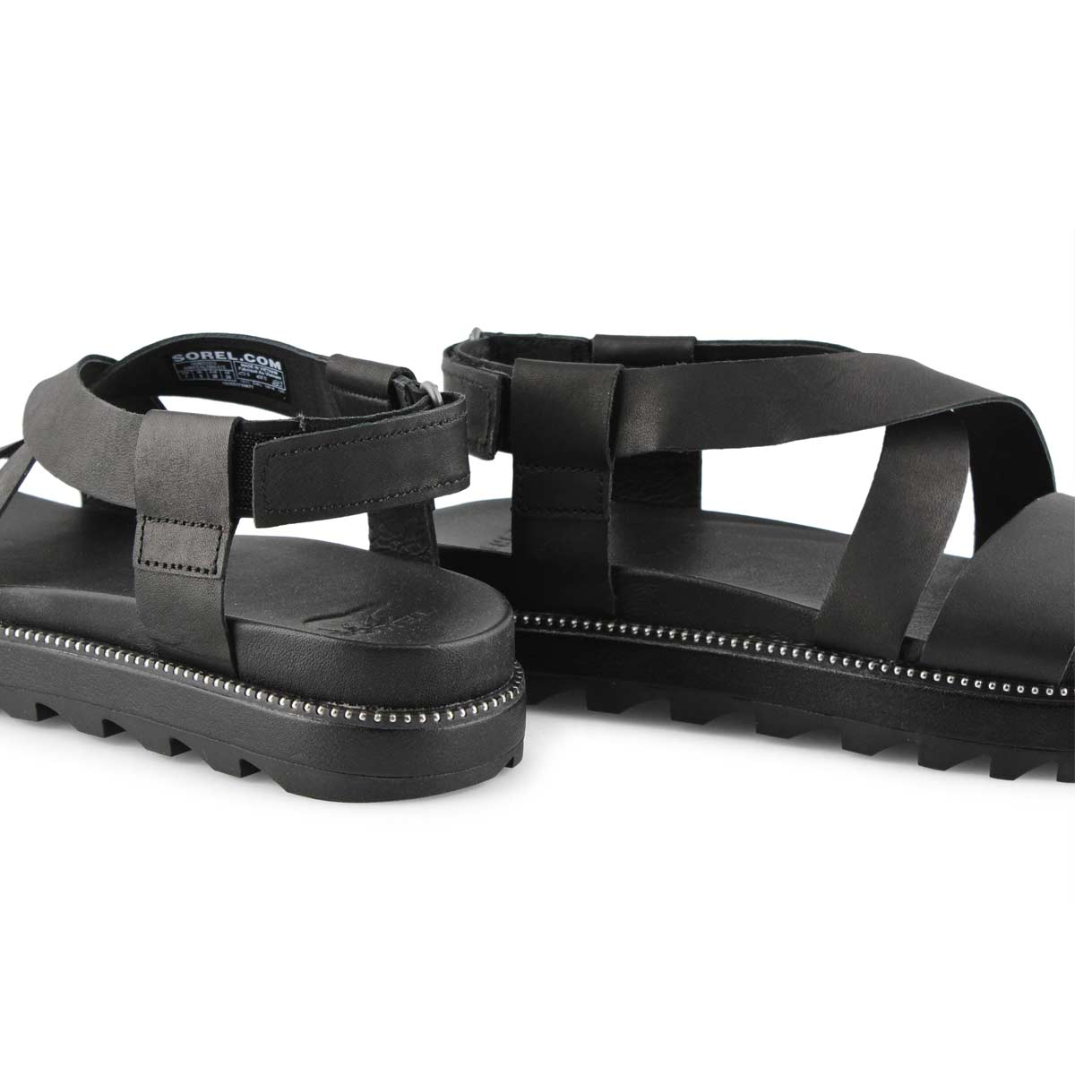 Lds Roaming Criss-Cross blk sandal