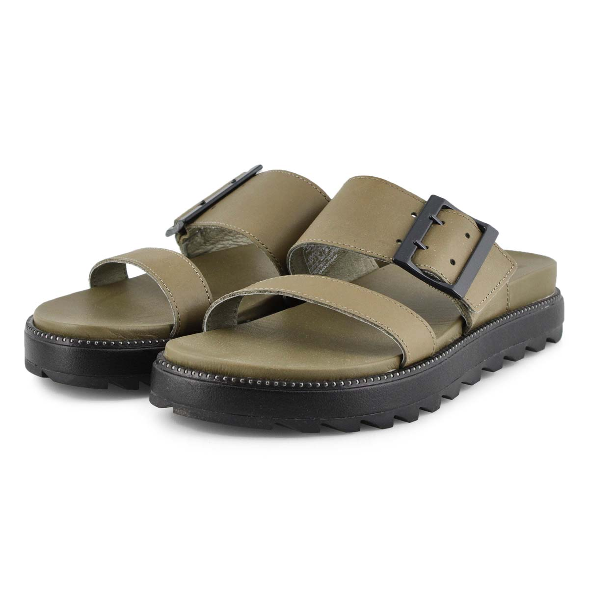 Lds Roaming Buckle Slide sage sandal