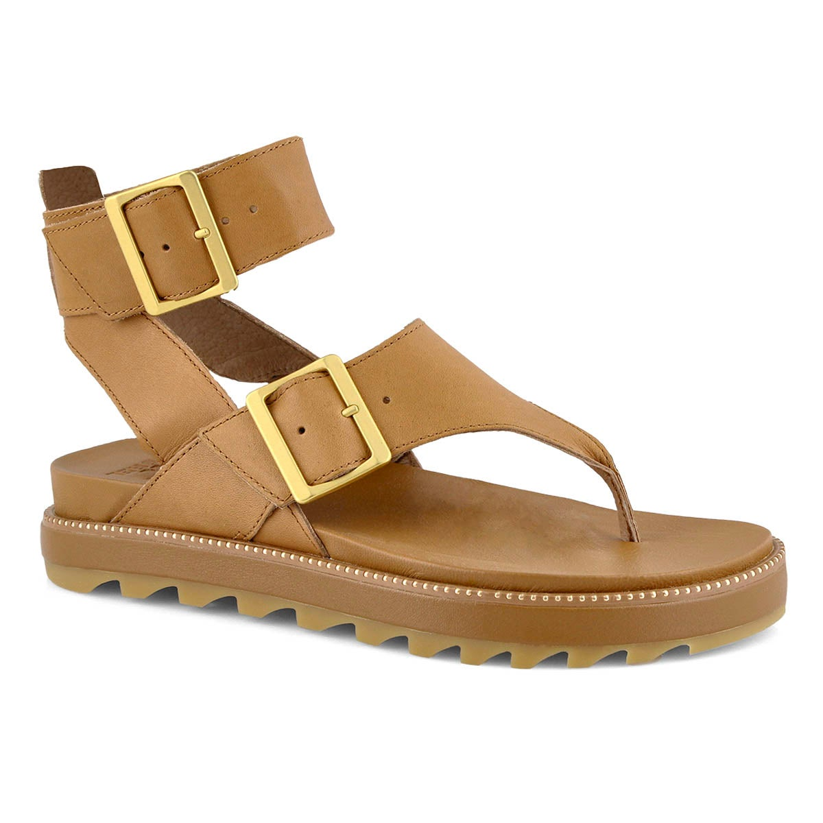 Lds Roaming T-Strap brown casual sandal