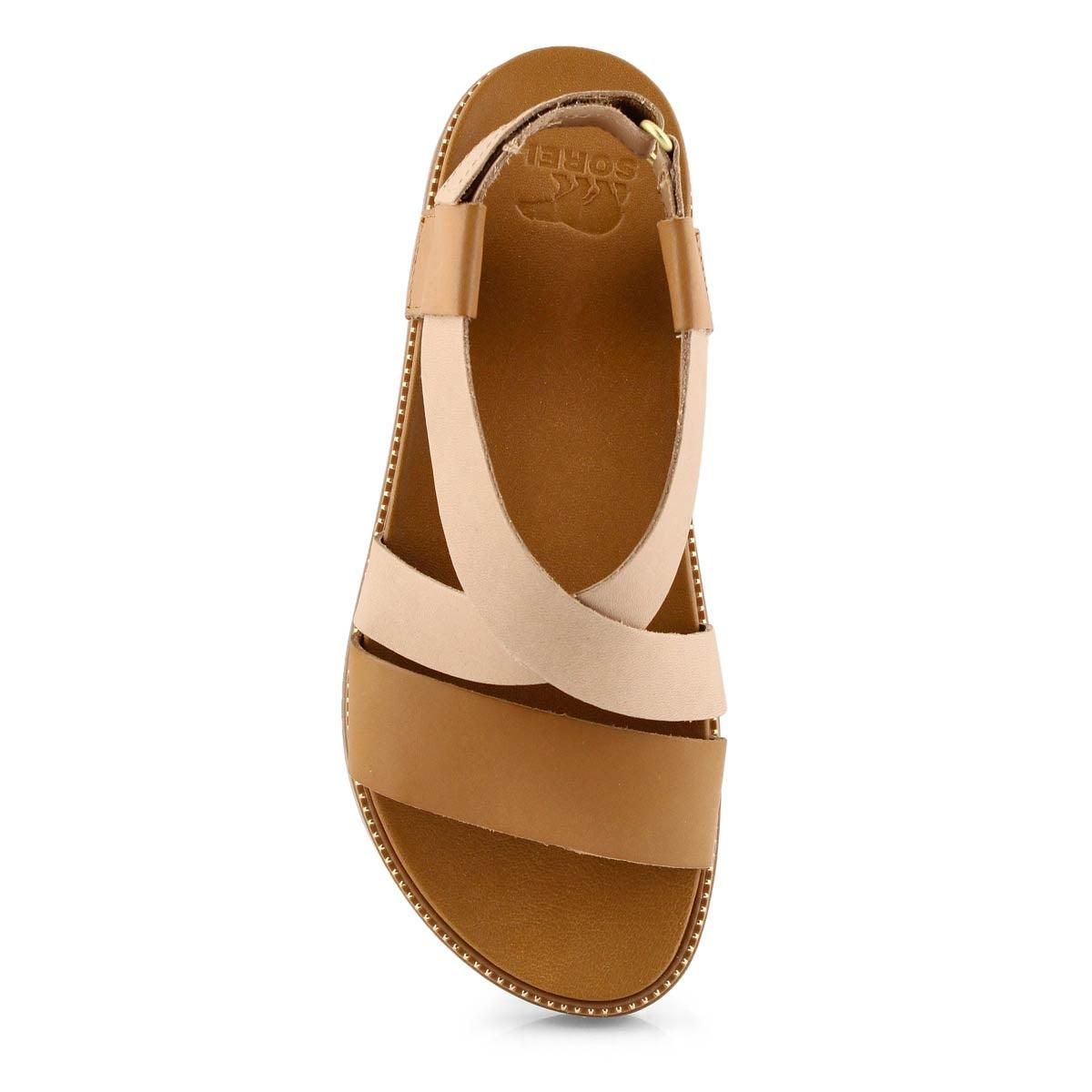 Lds Roaming Criss-Cross brn sandal