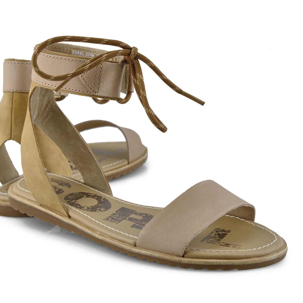 Lds Ella Ankle Lace beige casual sandal