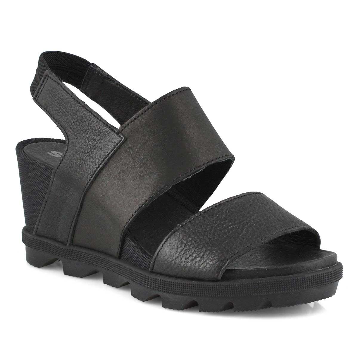 Lds Joanie II Slingback blk wedge sandal