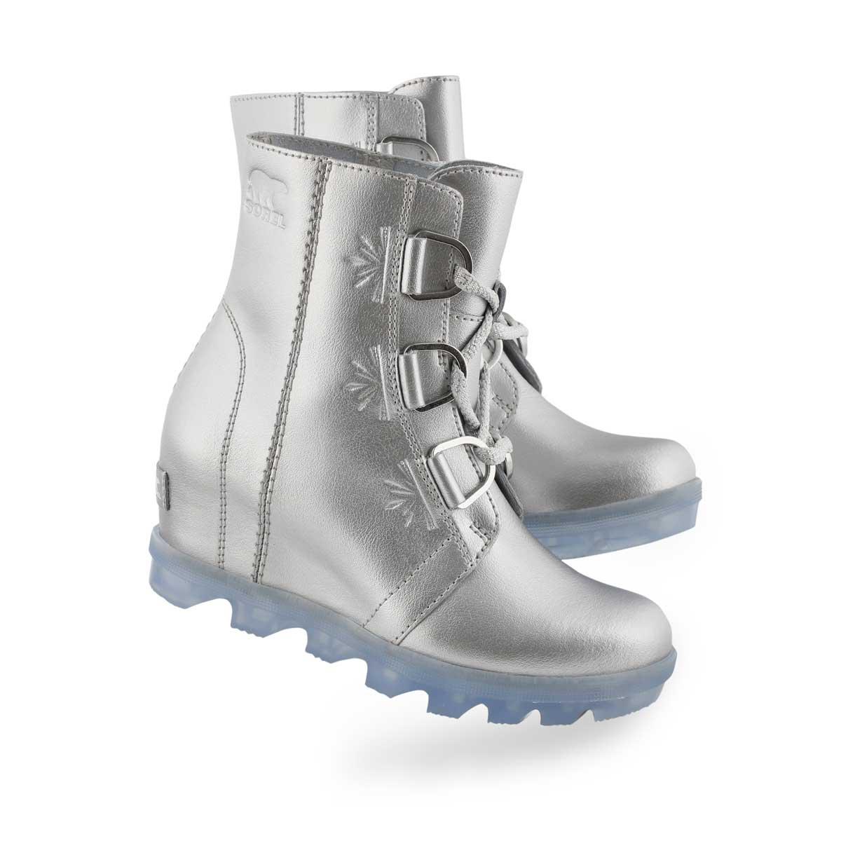 Grls Disney JOA Wedge II sil casual boot