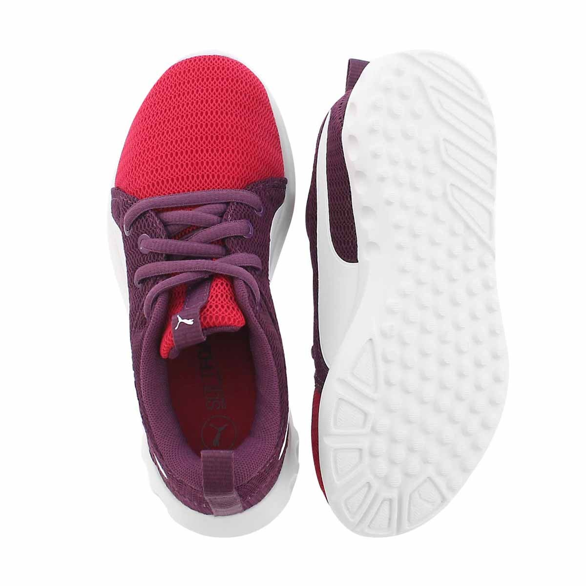 Grls Carson 2 Jr pink lace up sneaker