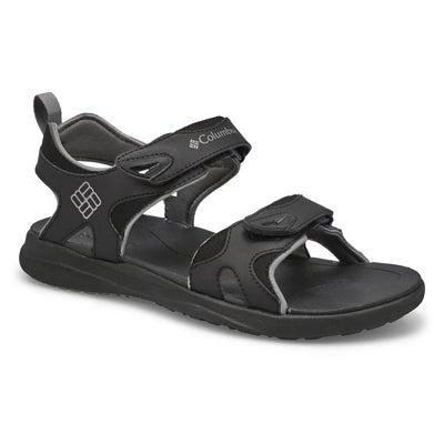 Mns Columbia 2 Strap blk/gy sport sandal
