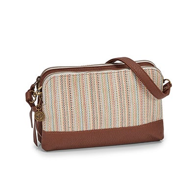 Lds Hands Off sugarcane crossbody bag
